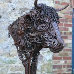 Commissioned Bull Sculpture