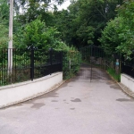 Beautiful Wrought-Iron Fence and Gate